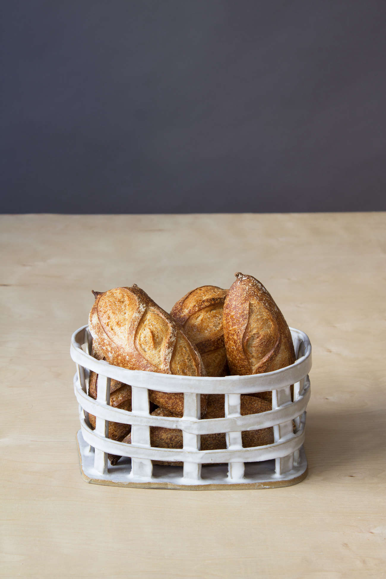 paula greif bread basket white ceramics 15