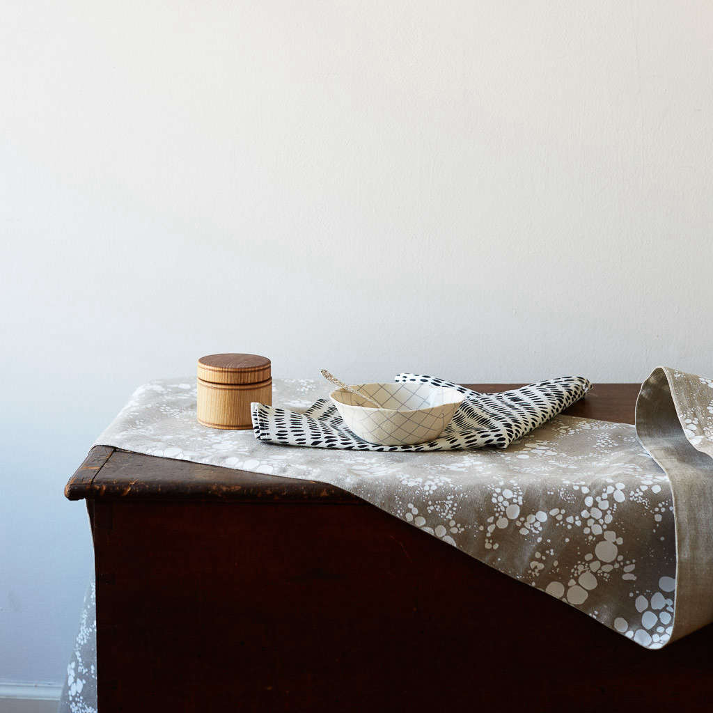 rebecca atwood spots table runner natural 9