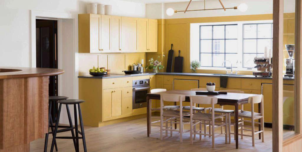 Rivertown Lodge Yellow Kitchen