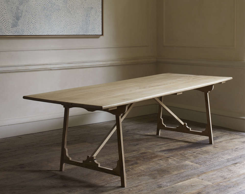Rose Uniacke Folding Campaign Refectory Table