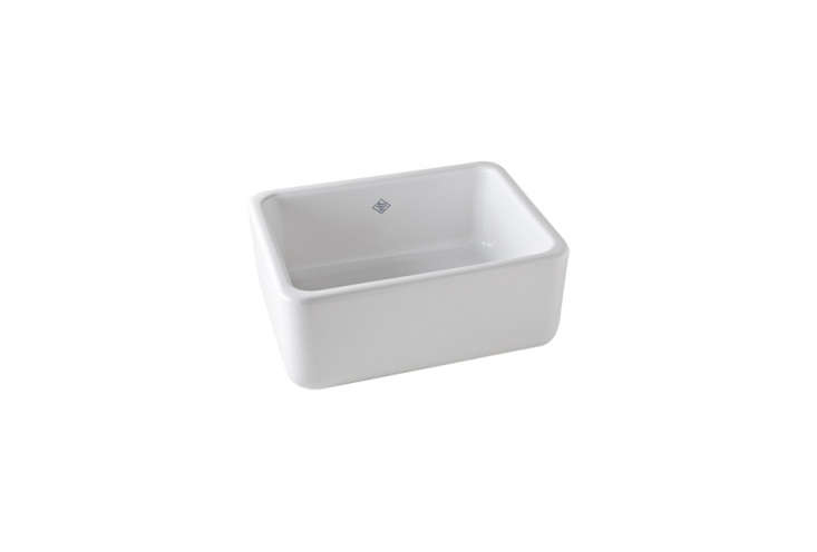 the shaws original lancaster single bowl apron front fireclay sink is \$\1,499. 15