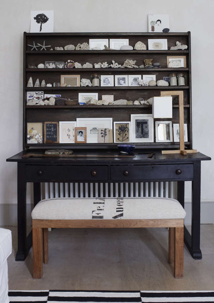 """Expert Advice Thoughts on Designing from Nature with Spencer Fung In a hutch in Fung and Roviras&#8\2\17; London home: found objects from their travels. """"We are compulsive gatherers,"""" Roviras told us a few years back. Photograph by Richard Powers."""