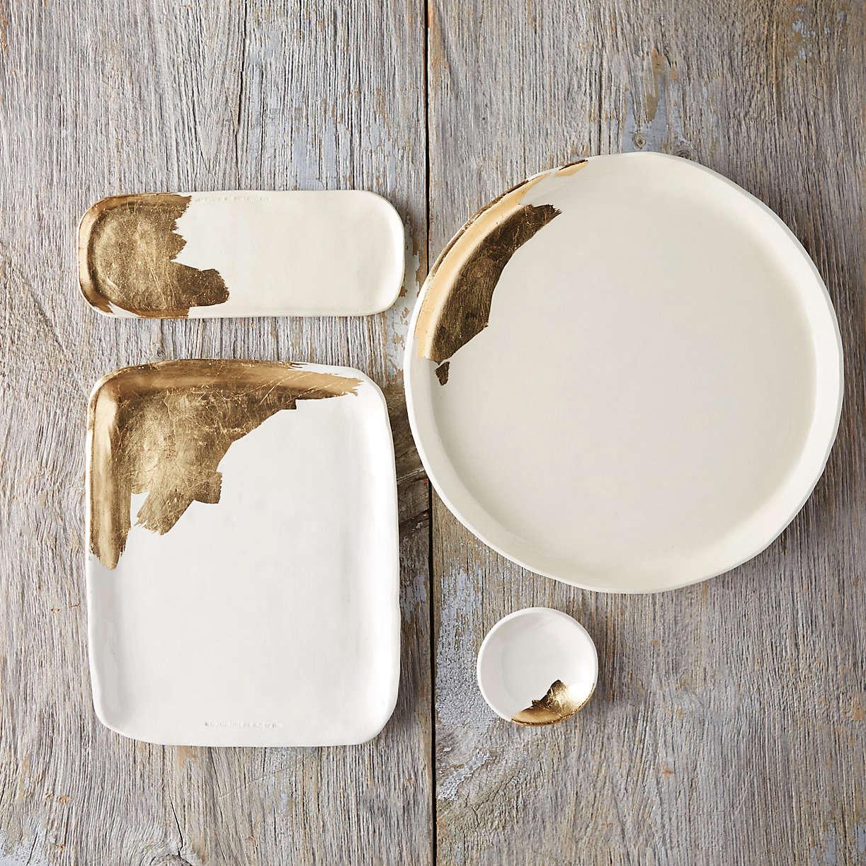 terrain gold brushstroke trays 10