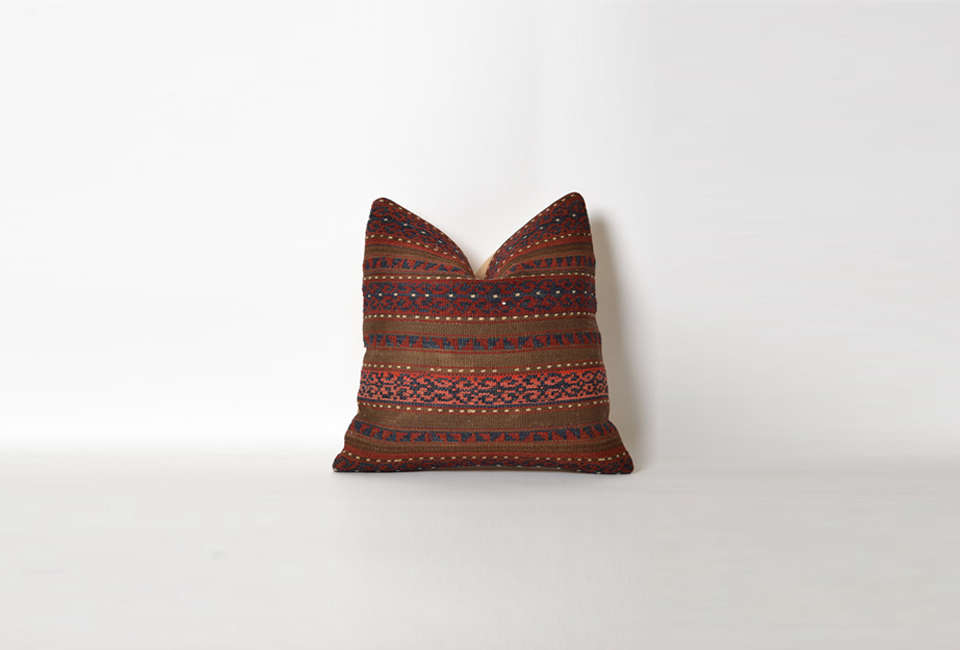 Steal This Look A Rustic Farmhouse Living Room in Upstate New York Vintage Striped Kilim Pillow from Etsy