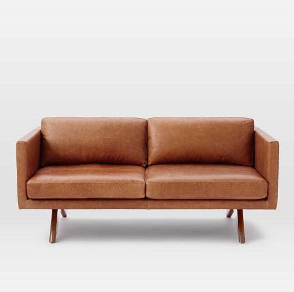 west elm brooklyn leather sofa 18
