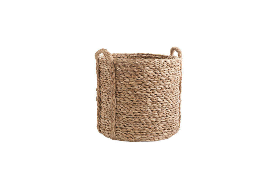 Steal This Look A Country House with Selective Color Wisteria Large Woven Seagrass Basket