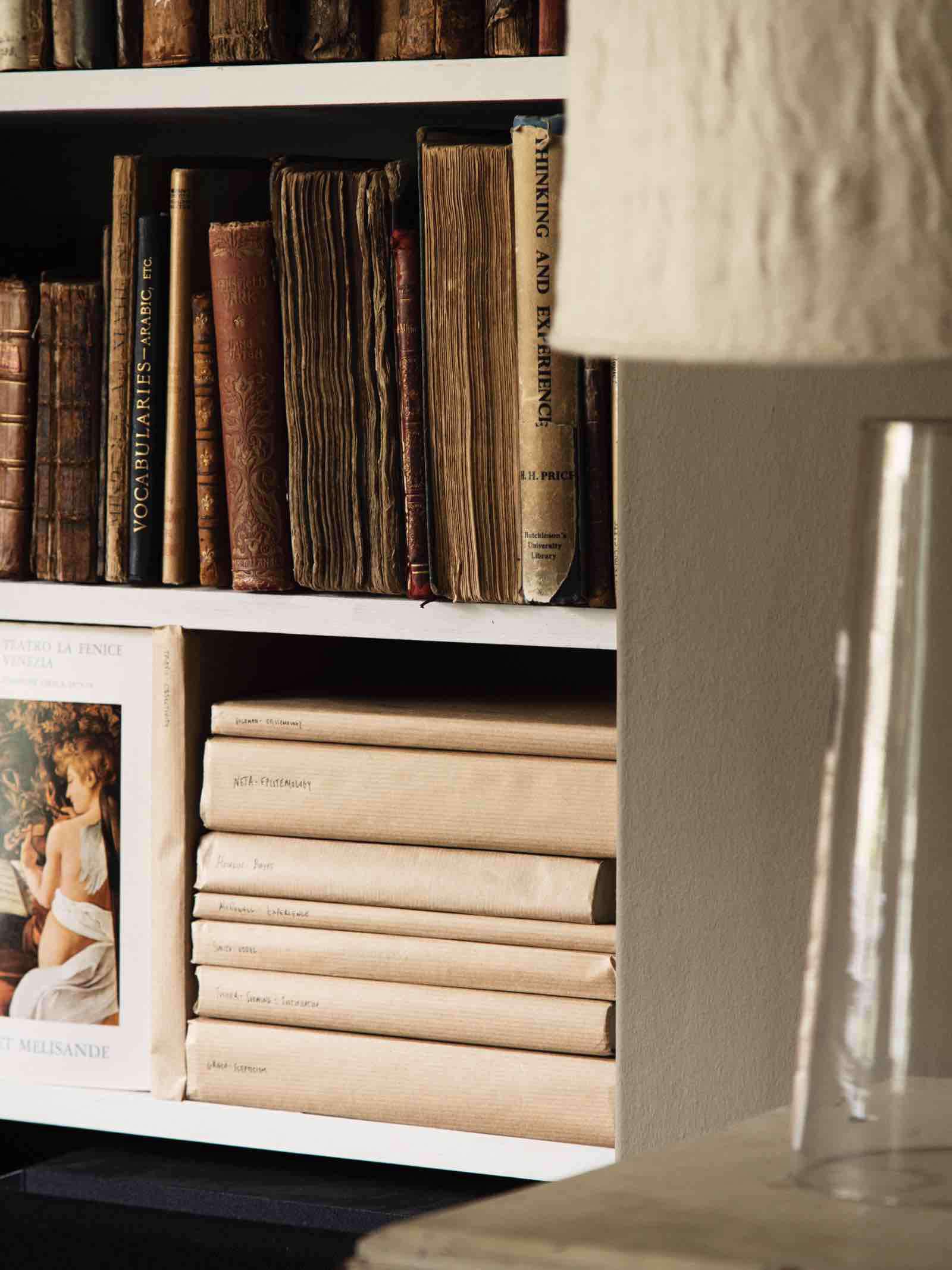 kraft paper covered books