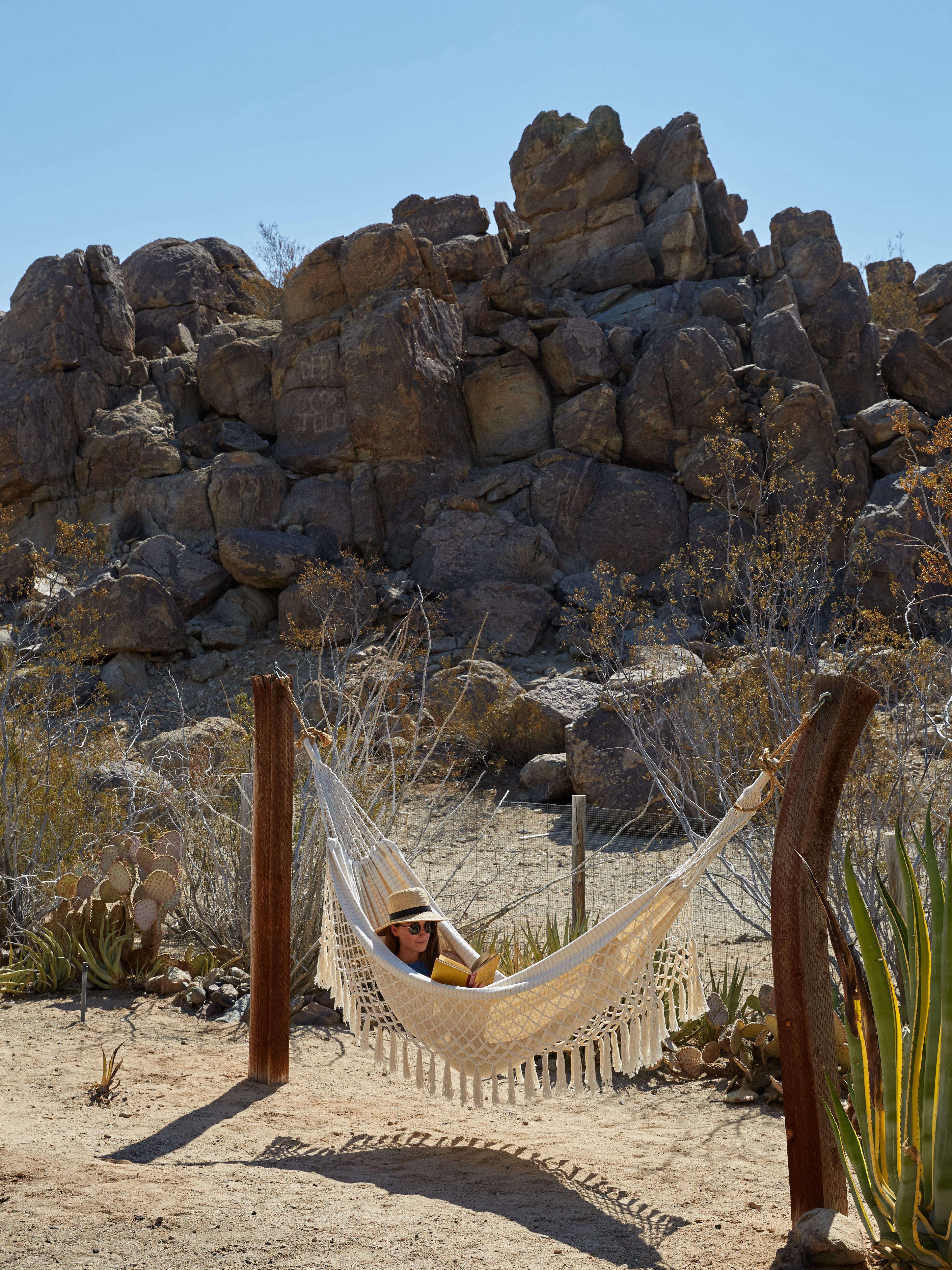 joshua tree casita desert hammock, kate sears photo