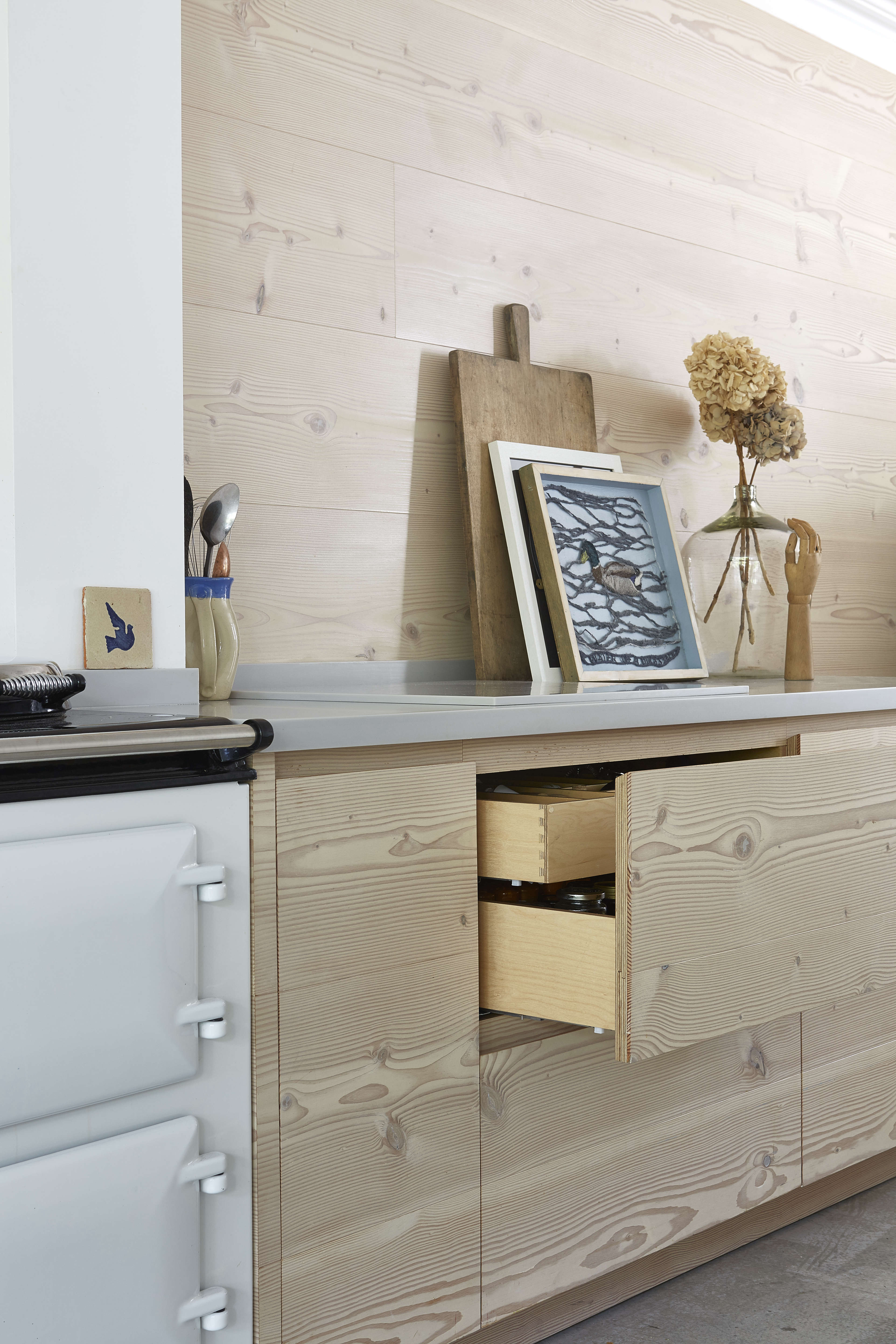art as kitchen accessory in a scandinavian pale wood design in london by blakes 13