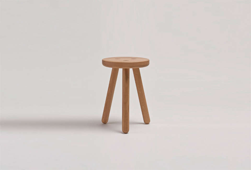 another country oak stool one 14