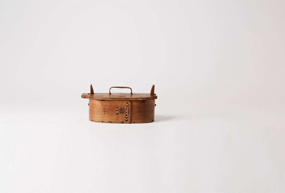 antique swedish folk art pantry box 26