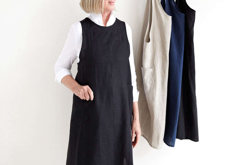 Atwood Linen Pinafore Apron at MARCH