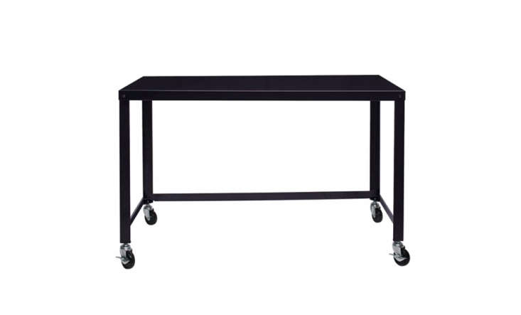 This Industrial Modern Writing Desk is 30 inches long and almost  inches wide; $$9.99 at Wayfair.