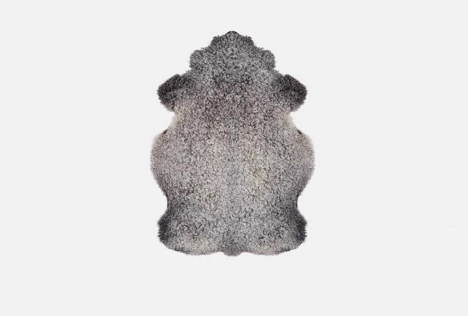 black sheep (white light) large gotland sheepskin 23