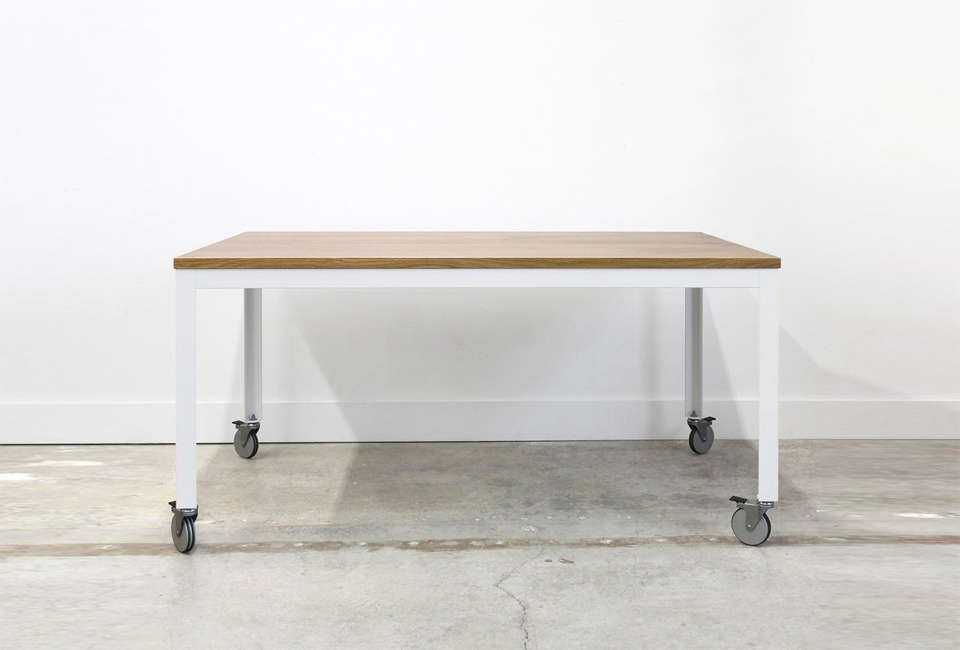 The Farmhouse Modern Table from Chadhaus Furniture is $