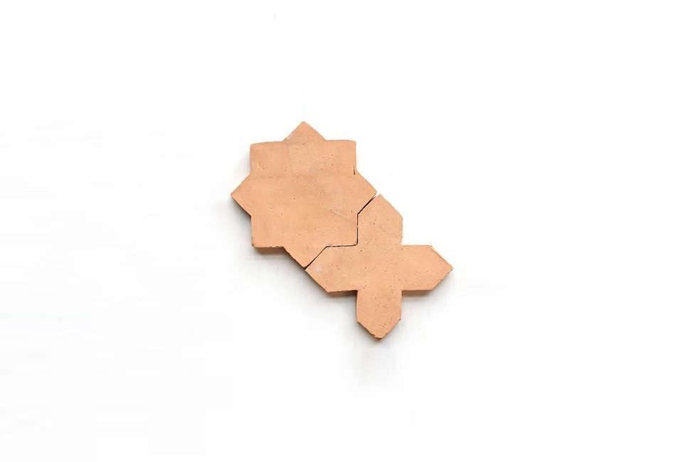 Clé Tile Belgian Terracotta Star and Cross Tile
