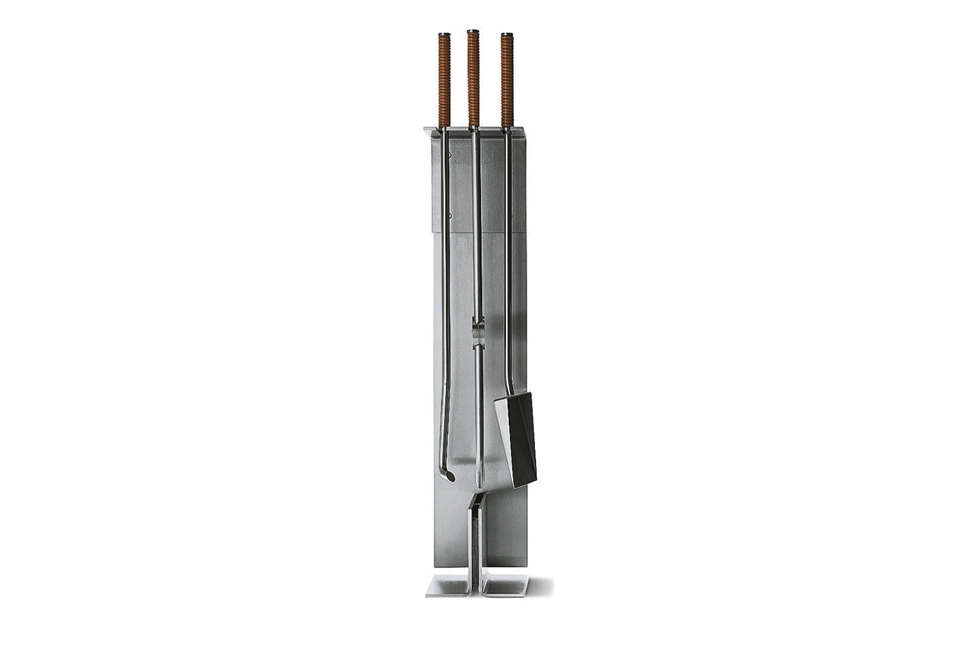 for the modern hearth, peter maly&#8\2\17;s fireside tools with floor stand 17