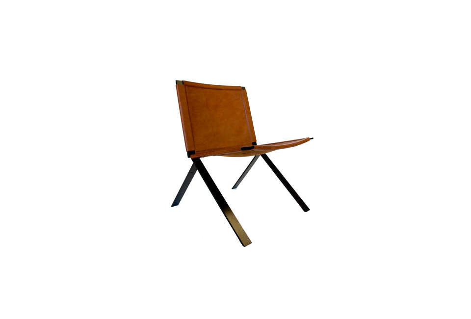 DUST Architects Metal and Leather Chair