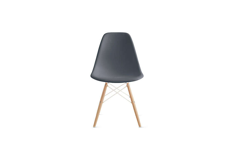 DWR Herman Miller Eames Molded Plastic Dowel Chair in Grey