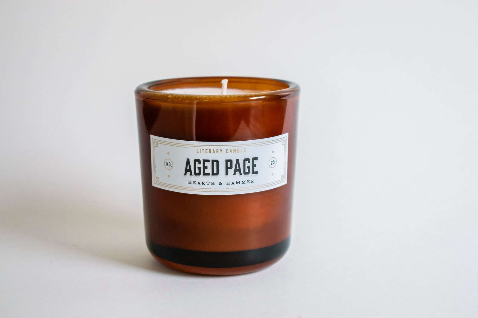 hearth and hammer aged page literary candle 11