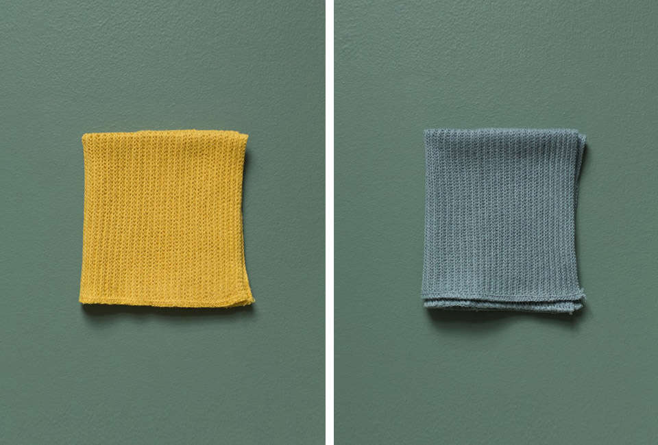 iris hantverk cleaning cloths in yellow and slate 11