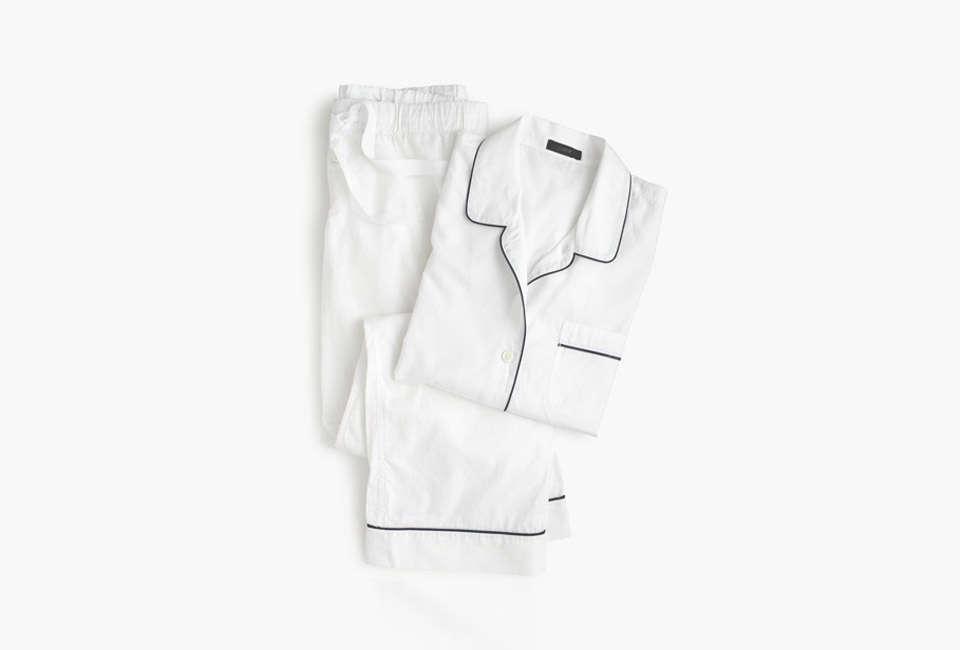 jcrew vintage pajama set in white 11