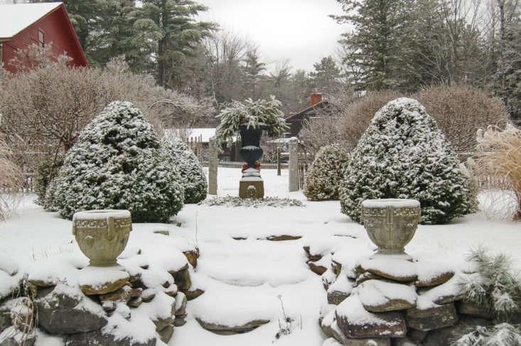 juniper hill winter garden snowy path, photo by joseph valentine 9