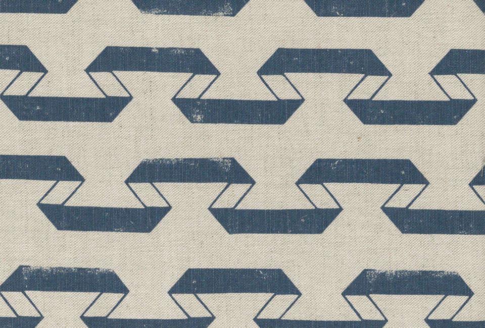 Lindsay Alkers Palmira Indigo Fabric