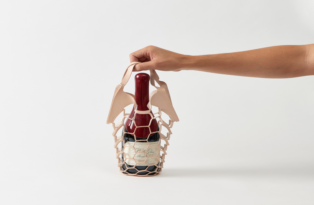 MARCH Leather Cut Wine Tote by Various Projects