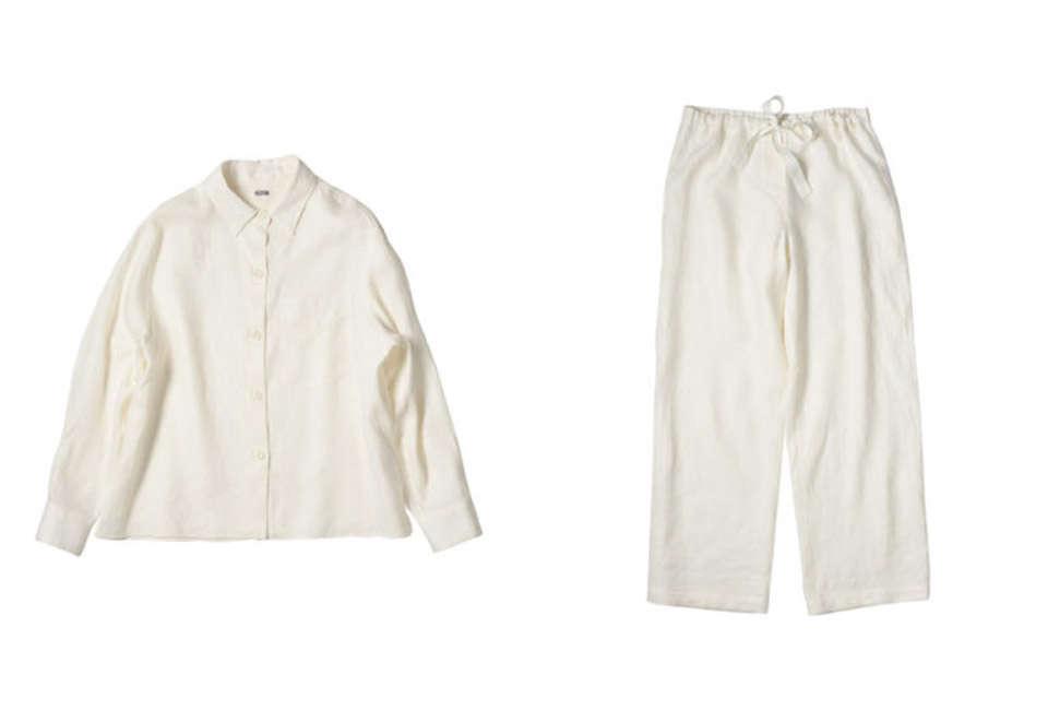 margaret howell nightwear pjs linen off white 12