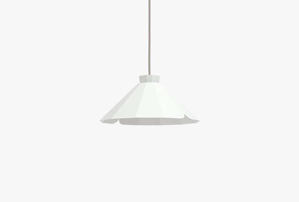matiere gris white flat steel pendant light at abc carpet & home 12