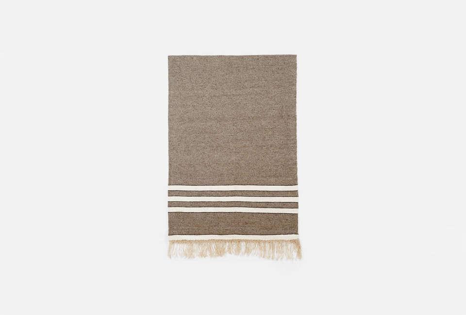 mexchic handloomed wool blanket charcoal 21