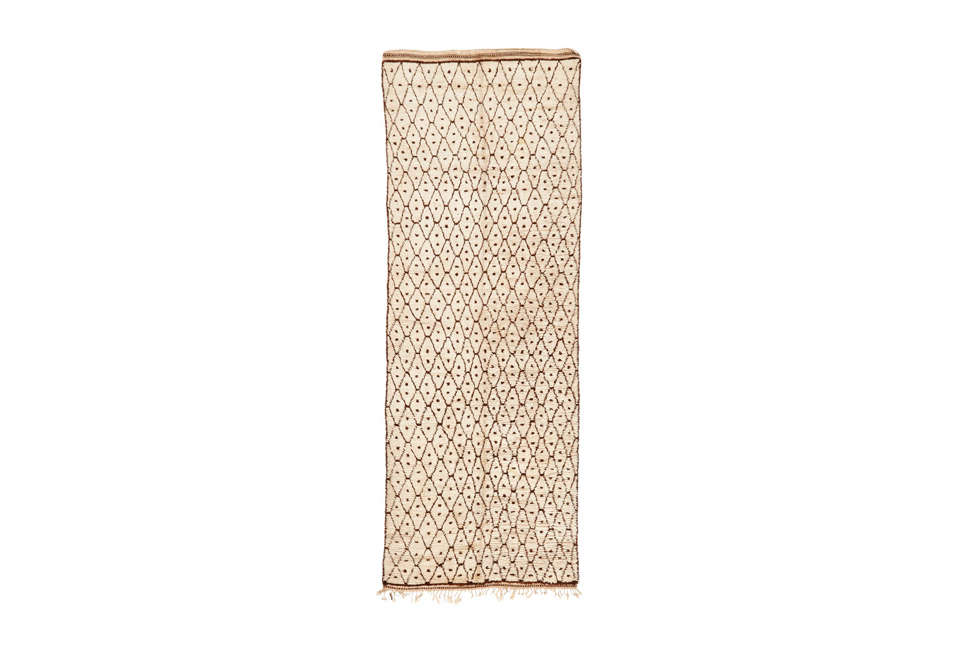 moroccan cream brown rug runner at abc carpet & home 14