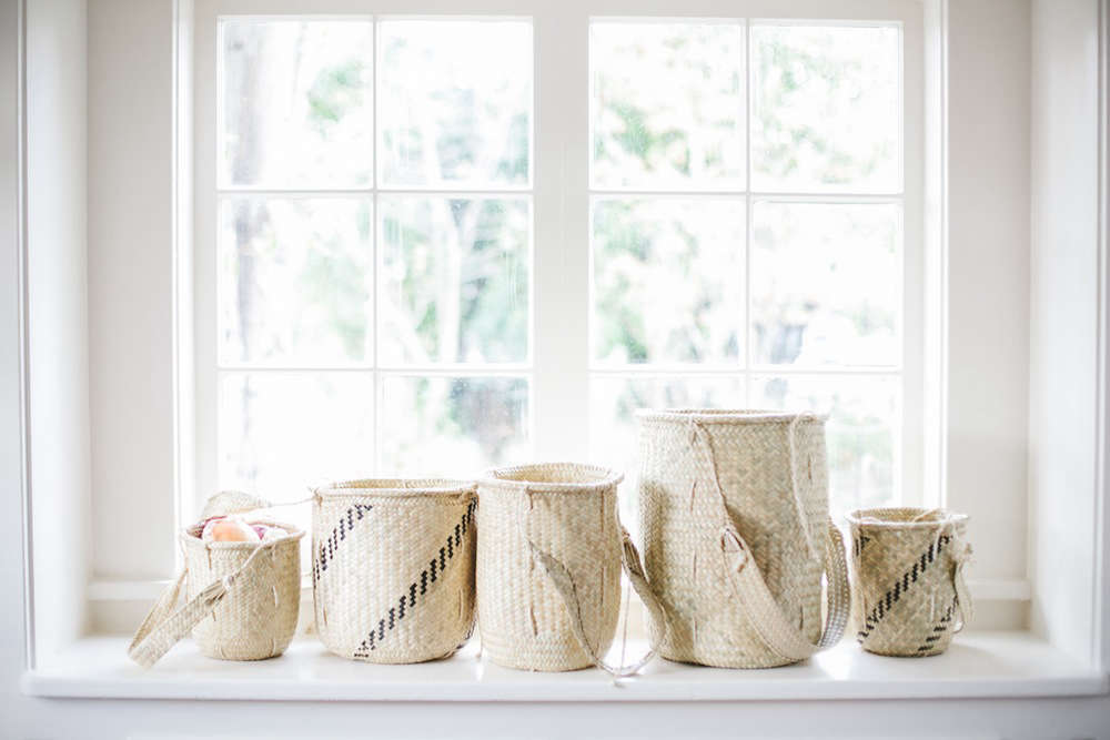In addition to her popular everyday napkins, Portland, Oregon, designer Shay Carrillo offers a number of handmade Mexican pieces in her online shop Non-Perishable Goods, including our favorite: Oaxacan Palm Baskets, available in a range of sizes.