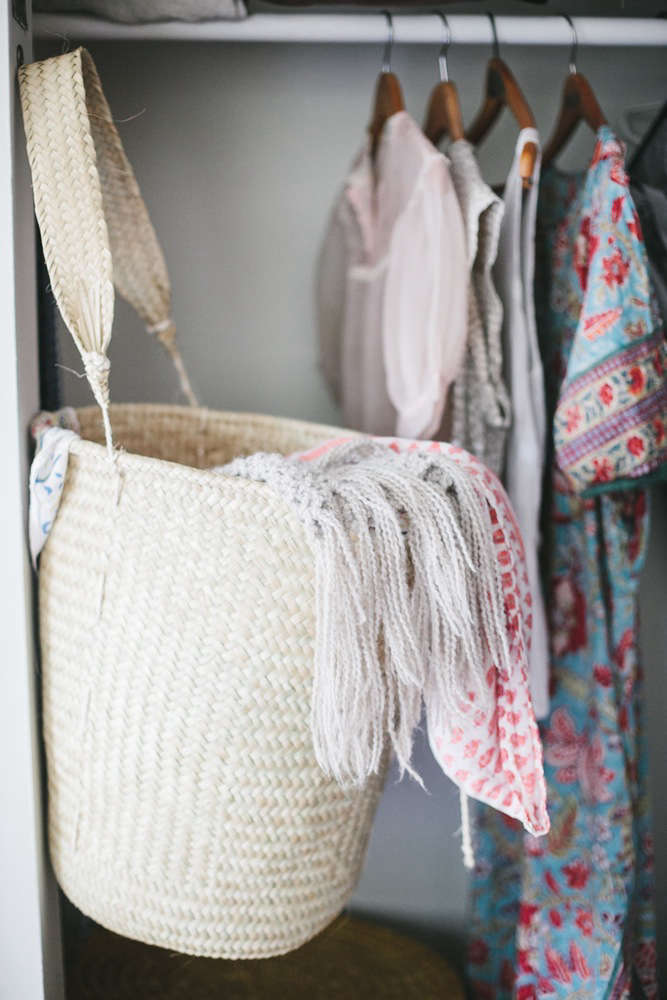 non perishable goods woven palm basket large