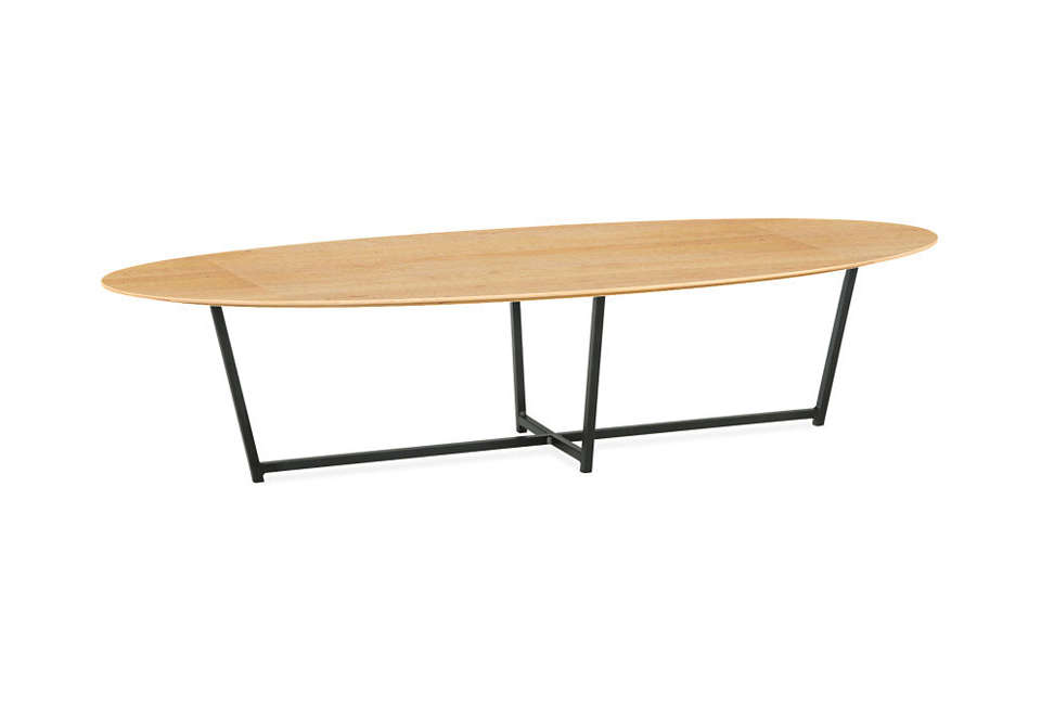 room & board soto cocktail table in natural steel 13