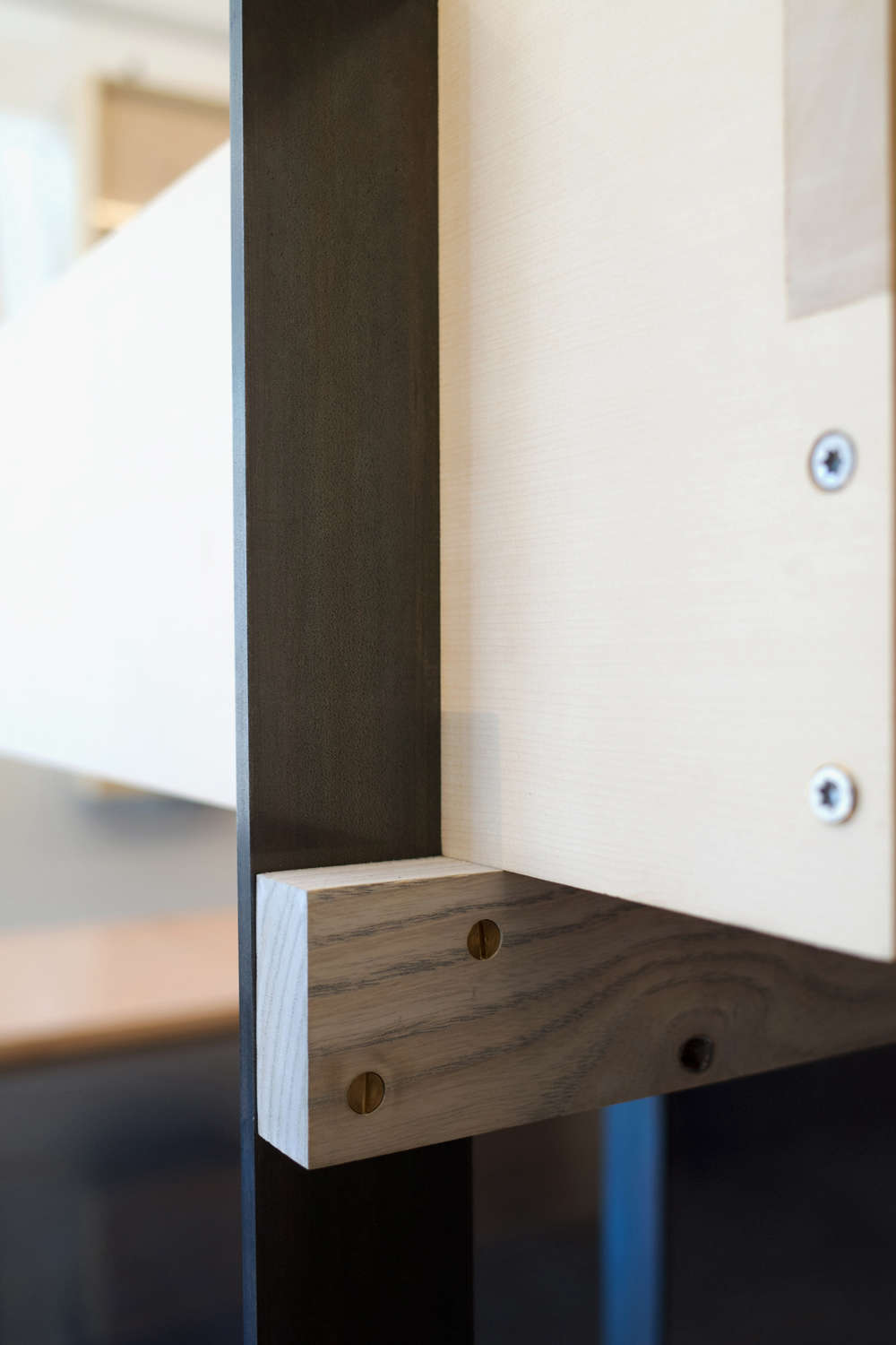 Display Case Detail in Ai and Om Knife Shop by Scott and Scott Architects