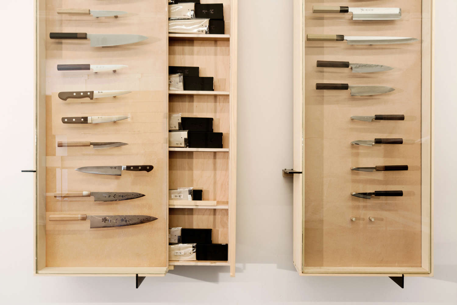 Display Case in Ai and Om Knife Shop by Scott and Scott Architects