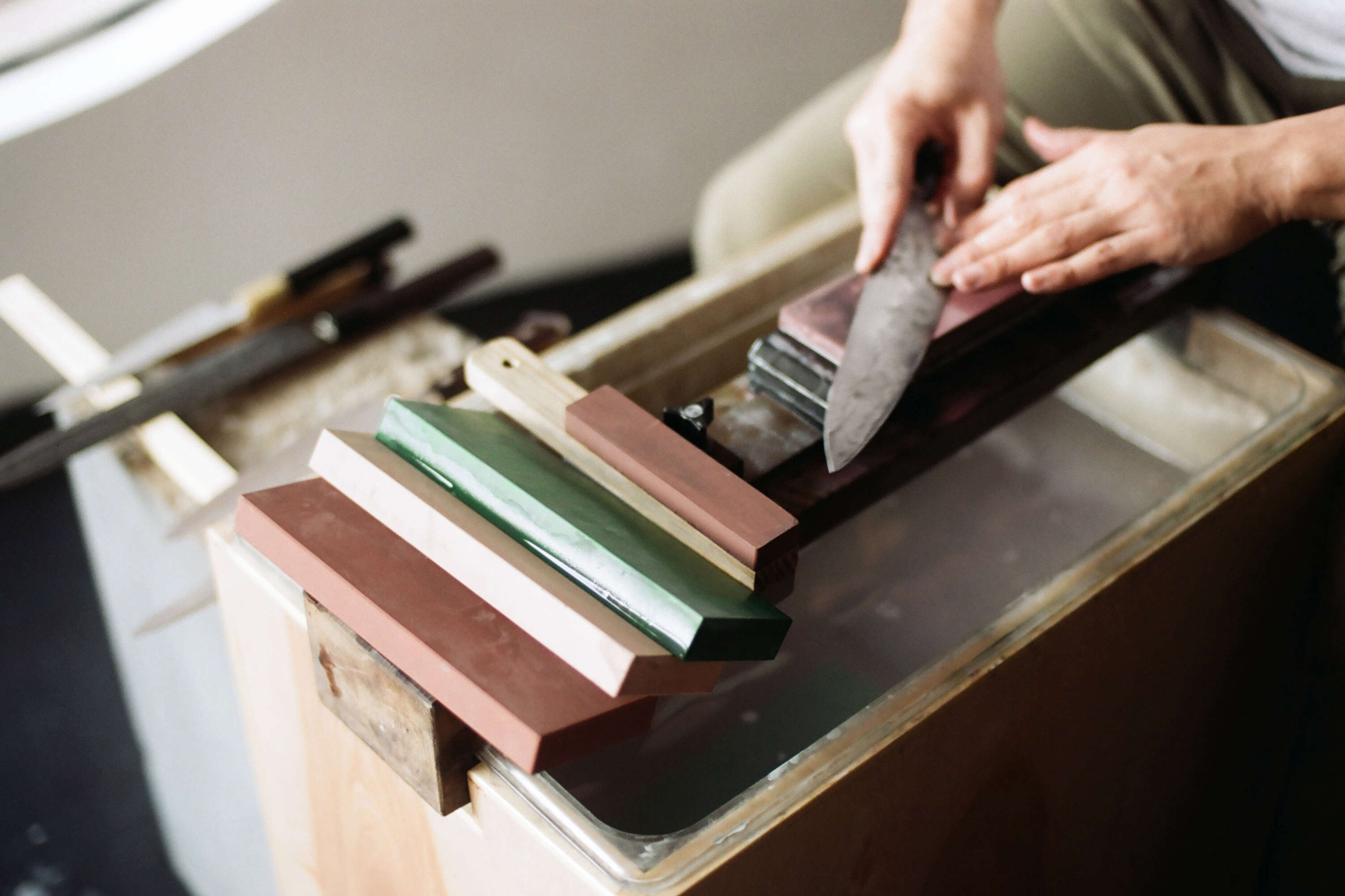 Knife-Making in Ai and Om Knife Shop by Scott and Scott Architects