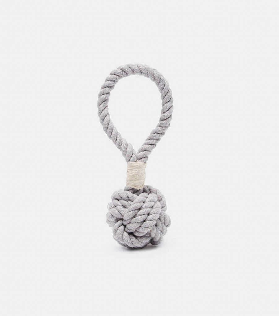 The Line Max Bone Grey Small Hobie Knot Tug Tie