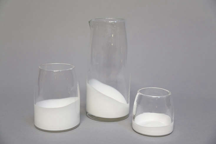 white glass set commons remodelista current obsessions 1 13