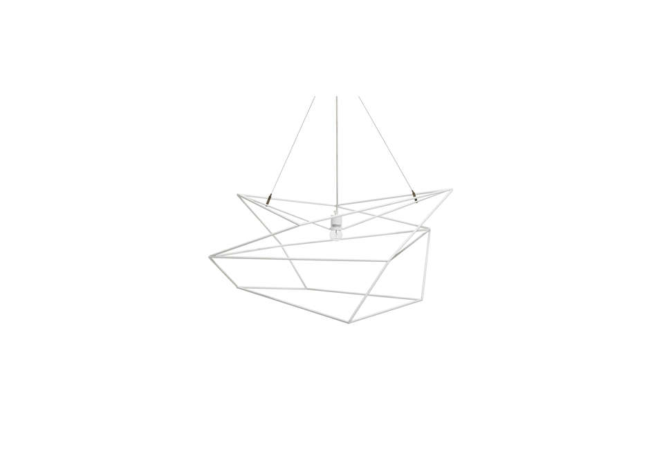 white graphic modern pendant light by abc carpet & home 13