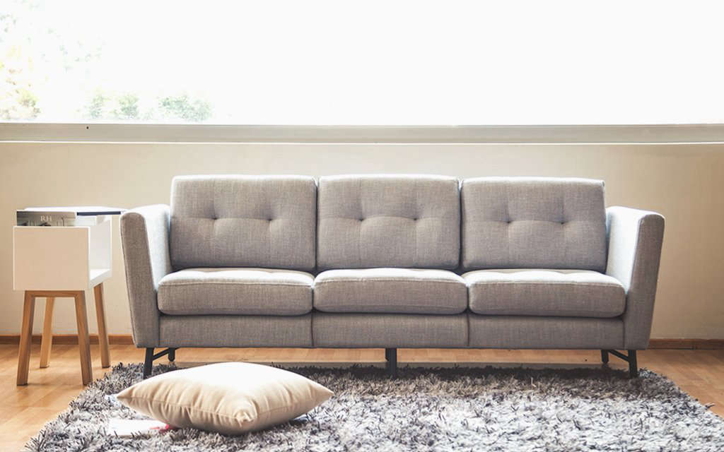 the burrow sofa, a modular design sold on line —and gunning to be the casper  9