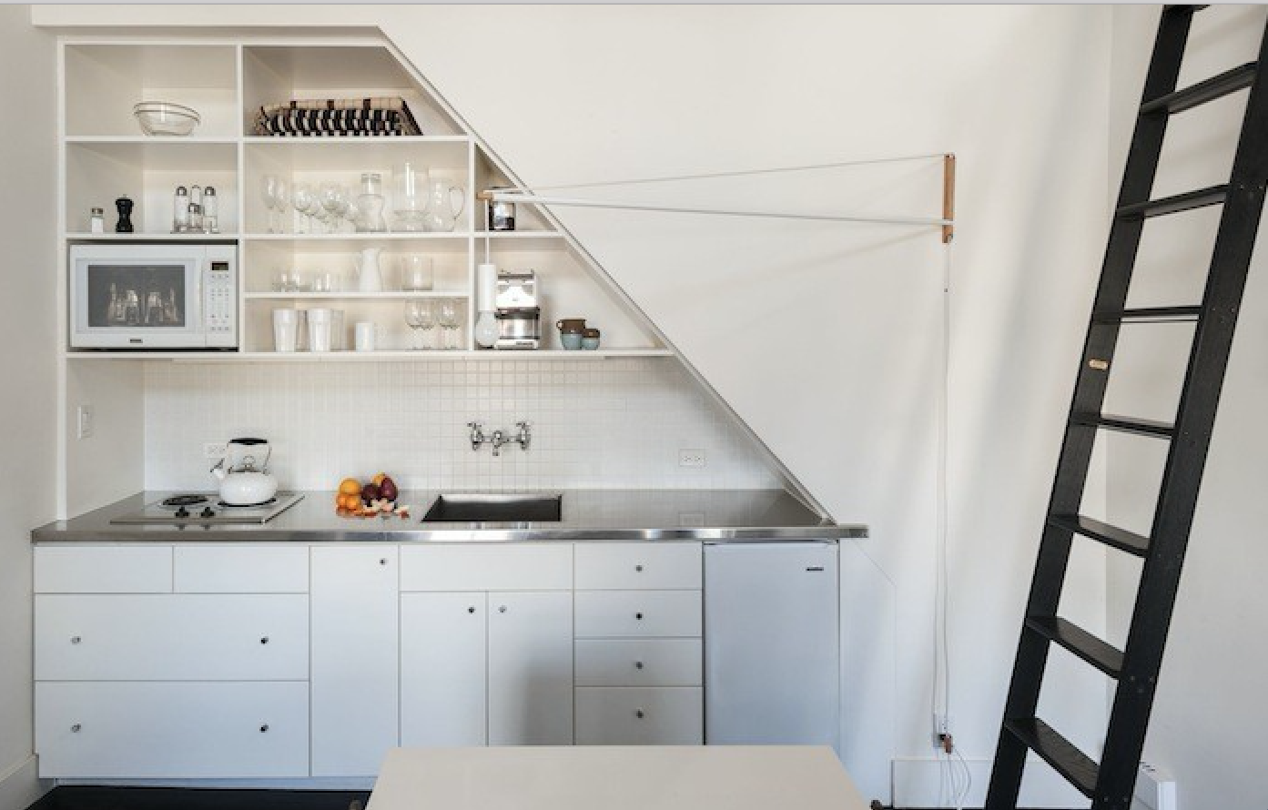 Compact Kitchen Stainless Countertop Matthew Williams Remodelista