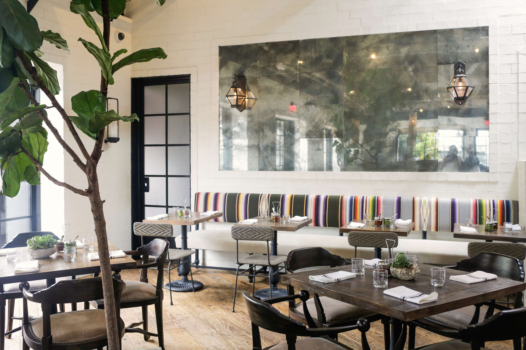 Gracias-Madre-restaurant-west-hollywood-la-stripes-antique-mirror