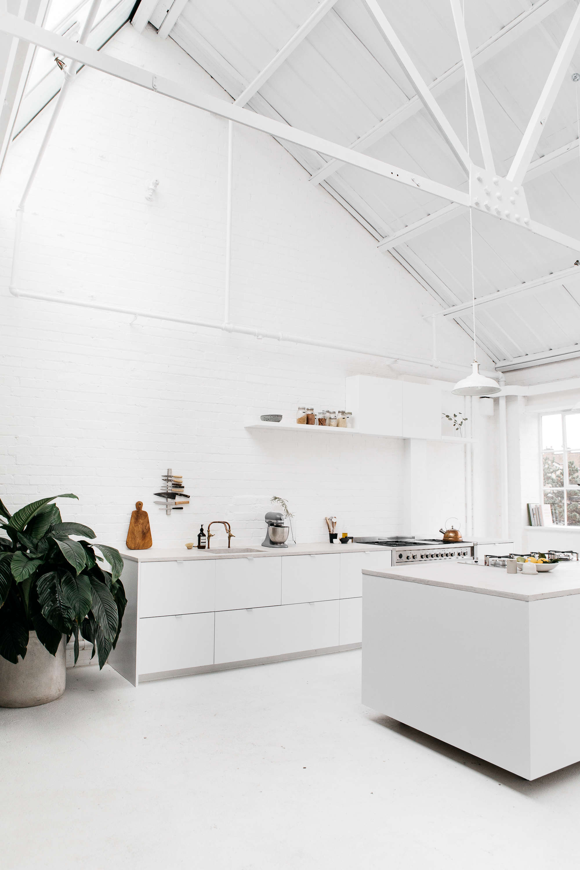 rye london a scandi inflected all white kitchen in london with customized ikea  10