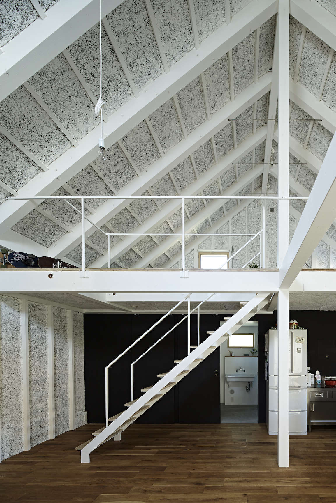 sabi, a surfers' house in chiba, japan, designed by no. 555 architects. the tex 13