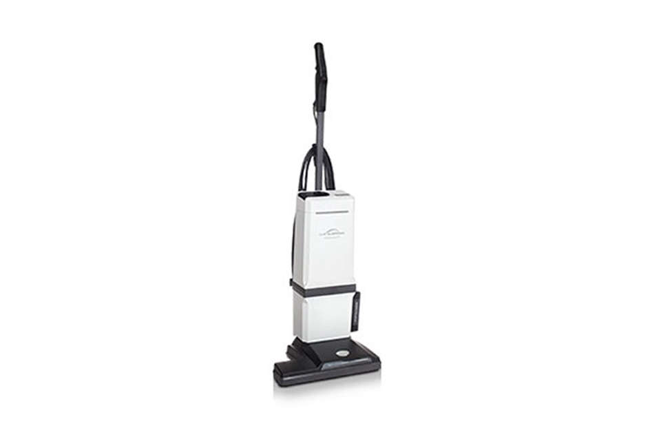 The Aerus Lux Guardian Vacuum is an upright vacuum that looks almost vintage. It has a low profile L-shape that can fit into a closet, Tetris-style, and measures 47 inches high and  inches wide. Contact Aerus for pricing and information.