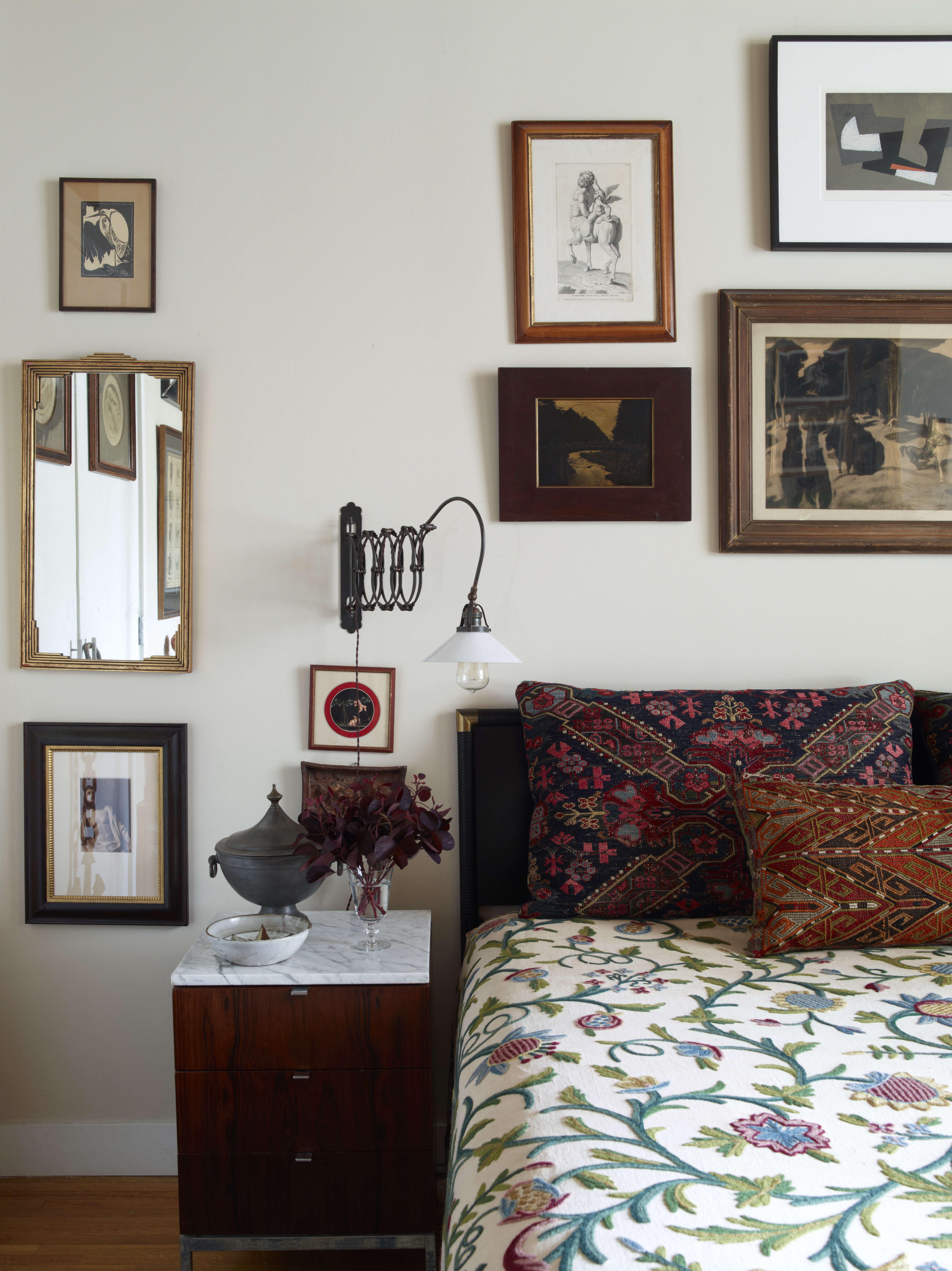alexandra loew bedroom print bedspread mirror artwork walls 17