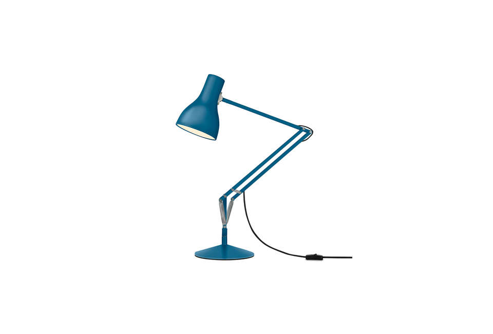 The Anglepoise Margaret Howell Type 75 Desk Lamp in Saxon Blue; $5 from Anglepoise.